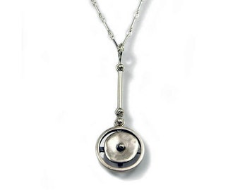 Circles in Motion Linear Necklace