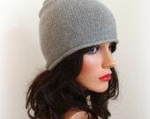 Pure Cashmere Hat - Men Women Knitted Beanie - Winter Fashion - Hat - OOAK