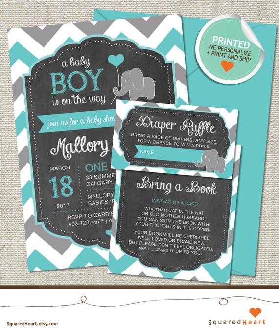 elephant baby shower invitation elephant invitation elephant teal