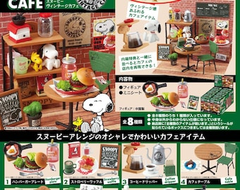 Re-ment Snoopy Vintage Cafe/Rement Snoopy Vintage Cafe/Re-ment Snoopy Old Cafe, with DISPLAY