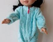 "Sherbet Colored Minky Footie PJ'S For 14.5"" Dolls"