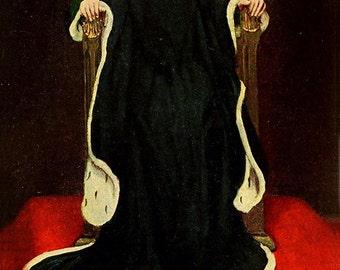 The Queen, Howard Pyle, Vinatge Art Print