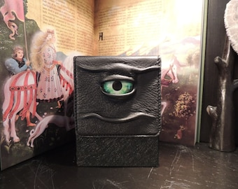 Tower Deck Box- Black with Green Eye