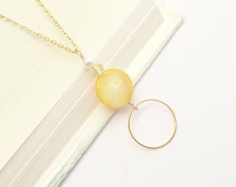 Gold Lanyard Pearl, Yellow Gold Eyeglass Chain Loop, Yellow Glasses Chain, Beaded Yellow Eyeglass Chain Necklace Pretty Lanyard Gold For Her