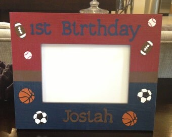 My 1st Birthday Sports Picture Frame
