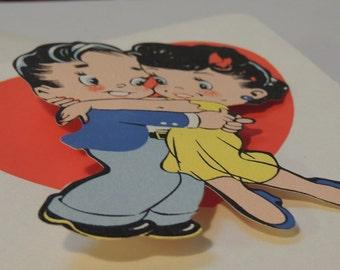 1950s Barker Card Valentine and Envelope