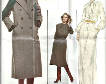 Vogue 1734 Paris Original Christian Dior Pattern Coat and Dress Ssize 10 Bust 32 1970's