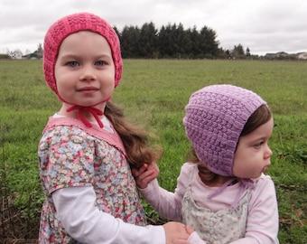 Lottie's Bonnet | pdf knitting pattern | fits newborns thru toddlers