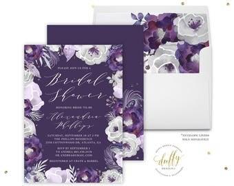 Bridal Shower Invitation, Bridal Shower Invite, Bridal Shower Invitation Floral, Bridal Shower Invitation Printed, Bridal Shower Invites