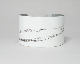 Long Island New York Cuff Bracelet Map Unique Gift for Men or Women