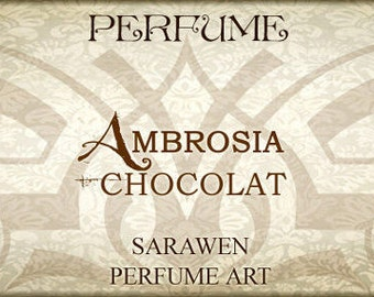 AMBROSIA CHOCOLAT 2ml Perfume Oil / Vegan perfume oil / Chocolat Parfum / Handcrafted perfume oil