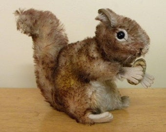 "Steiff 6"" Perri Squirrel - Vintage Mohair Squirrel - 1959 to 1980 Steiff - 4317/03"