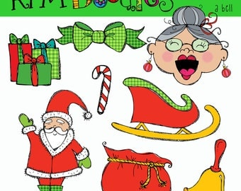 KPM Old lady who swallowed a Bell Digital Clipart COMBO