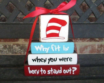 "Inspirational ""MINI"" stacker--Why fit in when you were born..."