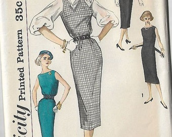 Vintage Sewing Pattern Simplicity 2390 50s Dress, Jumper & Blouse Size 13/Bust 33