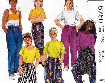 McCall's 5750 Sewing Pattern for Boys' or Girls' Novelty Pants - Uncut - Size 12, 14