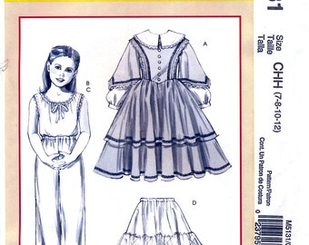 McCall's M5131 Sewing Pattern for Girls' Historical Costumes - Uncut - Size 7-14