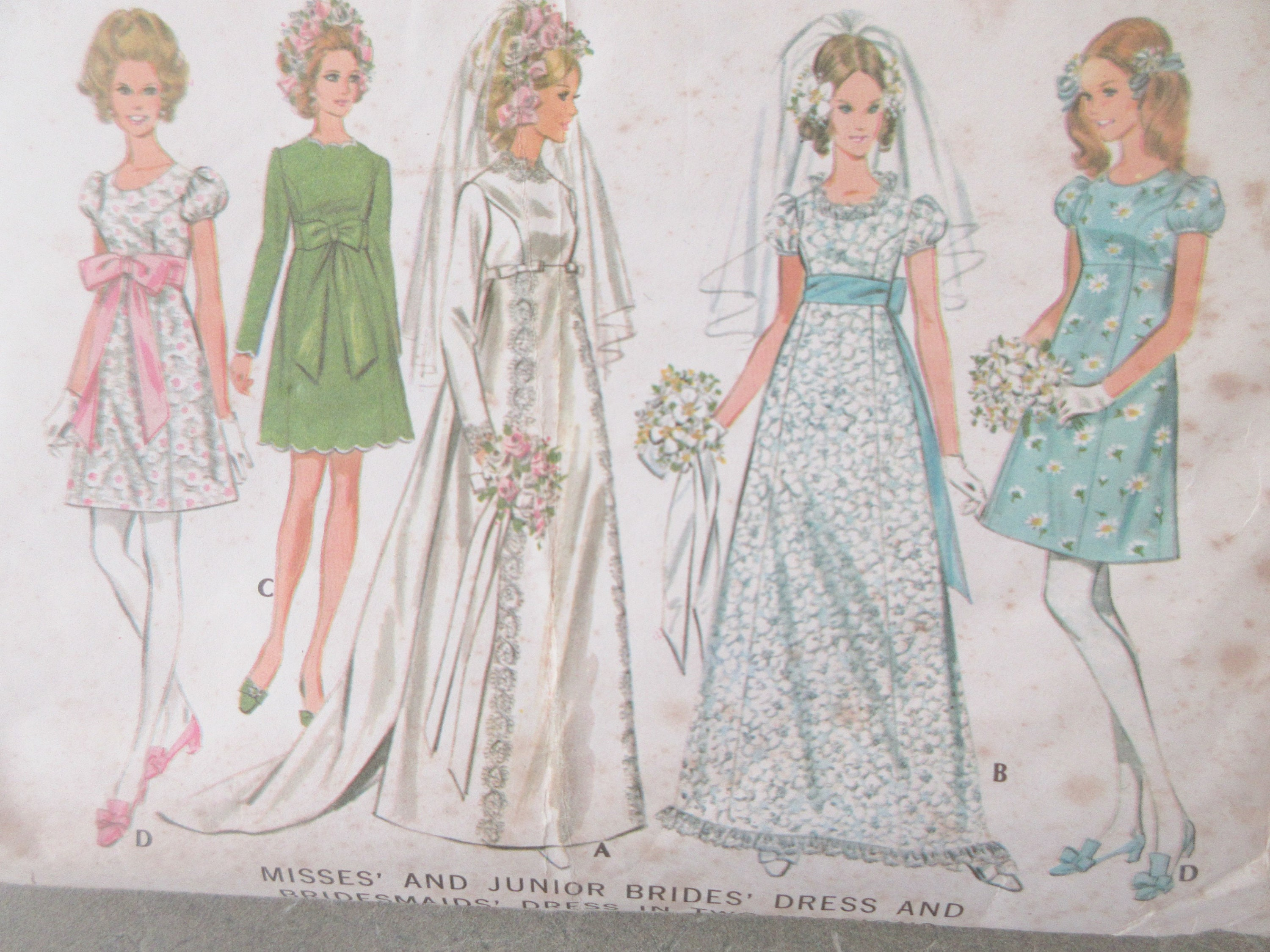 Vintage mccalls 9652 sewing pattern 1960s wedding dress pattern sold by sewbettyanddot ombrellifo Image collections
