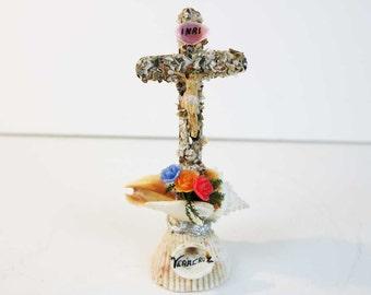 Vintage Seashell Jesus Statue - Vera Cruz Souvenir