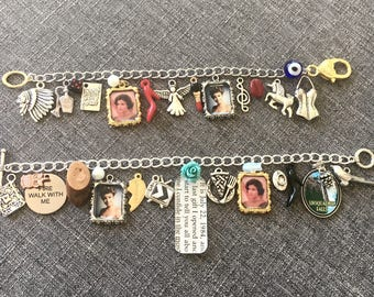 Laura & Audrey Charm Bracelet, inspired by Twin Peaks. Deluxe option also available -- plus chose 12 additional charms.