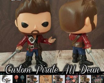Pirate AU Demon Dean - Custom Funko pop toy