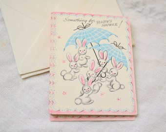 1950s NOS Baby Shower Gift Card