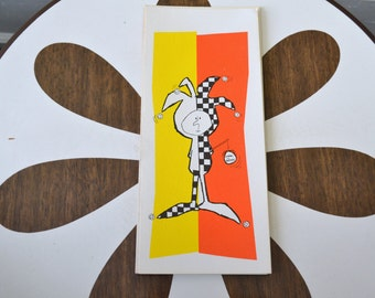 1950s NOS  Court Jester Card with Envelope