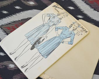 1940s Advance Dress Pattern, #3026, Size 16 (34 Bust, 37 Hip, 28 Waist)