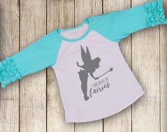 Tinkerbell Tee Decal Digital File, I believe in Fairies SVG, Cricut Fairy Design, Tinkerbell Silhouette Vector, Digital File
