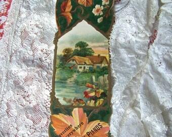 Victorian Trade Card Bookmark Pianos Advertising ca 1905