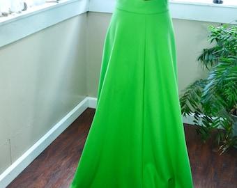 Vintage 70's Avacado Green Skirt - M