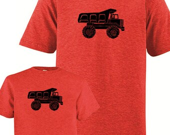 Matching Father Son Shirts, Dump Truck T shirts, Fathers Day gift, new dad shirt, father daughter, gift for dad, matching dad, present, set