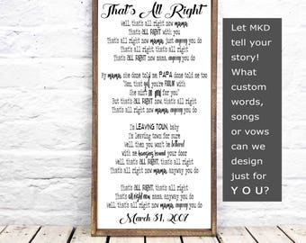 Wedding Song Lyric, Personalize Wood sign, song lyric art, song lyrics, Anniversary Gift, Wedding Gift,  gift for her, gift for him