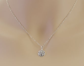 Sand Dollar Necklace, Sterling Silver, Sand Dollar Jewelry, Beach Lovers, Wedding Jewelry, Friends, Sand Dollar Gifts, For Her, BeadXS