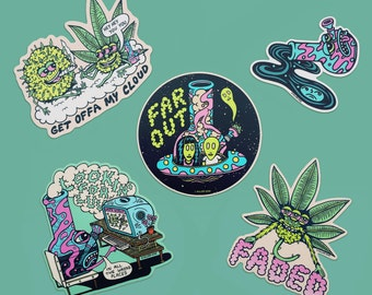 FAR OUT Sticker Set