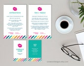 Colorful Stripe Business Card Bundle - Brand Set