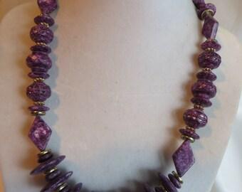 """18"""" Purple Necklace, necklace, purple"""