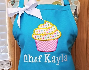 Personalized Apron Cupcake Apron Monogram Apron Monogrammed Gift