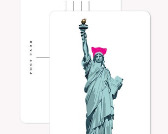 Set of 3 Postcards - Pussy Hat Lady Liberty