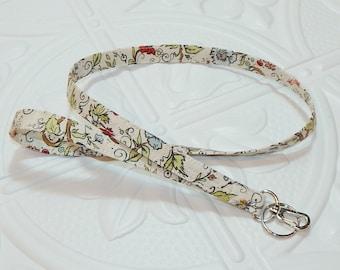 Lanyard - Badge Holder - Key Lanyard - Teacher Lanyard - Floral Print