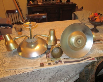 Mid Century Heating Ceiling Lights / 60s Atomic Metal Lights 2 Bullet Lights