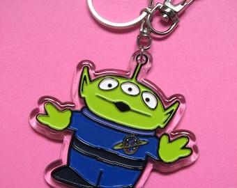 Little Green Man keychain