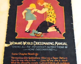 1920s Vintage Sewing Book Woman's World Dressmaking Manual 1925 Complete Original