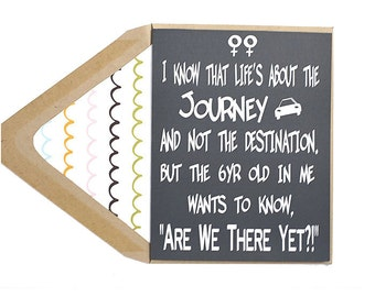 Life's A Journey Love Card - Awkward Dating, Date-iversary, Anniversary, Lesbians, Gay