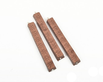 Sealing Wax Stick for Wax Seals, Paraffin Wax, METALLIC COPPER, Premium Sealing Wax, about 12 grams per stick, wax0010
