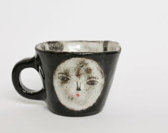 Full Primitive Moon wonky espresso cup