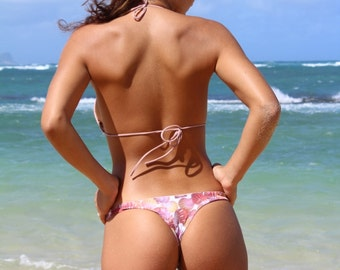 Kaimana: REVERSIBLE Sexy Cheeky Brazilian Bikini Bottoms Made  Peace of Paradise Creations in Maui Hawaii