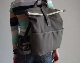 Sale SALE SALE - Backpack, ZEN, Grey, Satchel, Rucksack, School Backpack, Sports Backpack, Gift for her, Laptop Backpack, Gifts, 40%