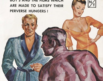 Gay Boy - 10 x 16 Giclée Canvas Print of a Vintage Gay Pulp Paperback Cover