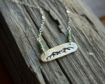 Sawtooth Mountain Necklace with Turquoise